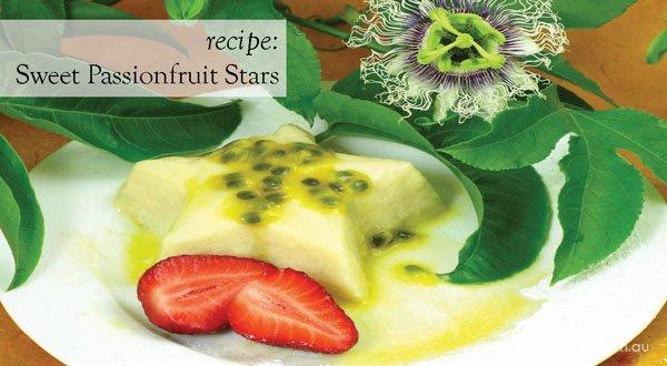 Recipe Sweet Passionfruit Stars desert