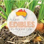 Autumn edibles, vegetables, herbs and fruit Guide by regional zone Australia gardening