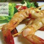 Garlic prawn skewers Recipe #basil #pasta #recipe #aboutthegarden
