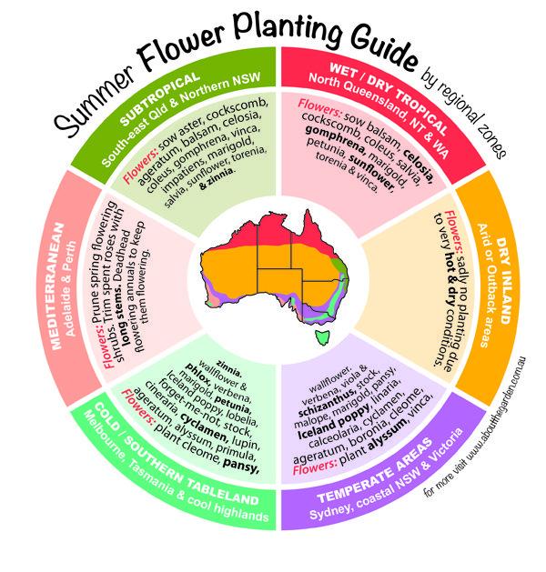 Regional flower planting guide