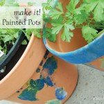 make it brush free painted terracotta pot for father's day #craft #DIY #kids #garden #aboutthegarden