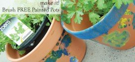 Make It! Brush Free Painted Pots