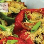 Stuffed Capsicum RECIPE #vegetarian #salad #recipe #aboutthegarden