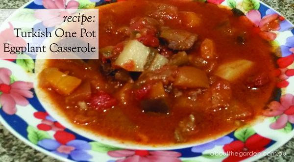 Turkish one pot easy eggplant casserole Recipe #vegetarian #garden #recipe #aboutthegarden