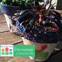 Decoupage-Pots-using-terracotta-and-kids-art-work-as-seen-on-be-a-fun-mum-gardeningaustralia
