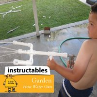 Garden Hose water gun from instructables for father's day gift idea #gardeningaustralia www.aboutthegarden.com
