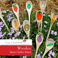 wooden spoon garden stakes for fathers day craft gifts from twig and toadstool #gardeningaustralia www.aboutthegarden.com.jpg