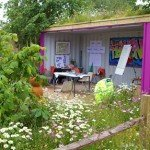 shipping container kids space in the garden