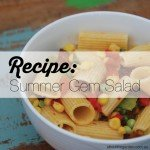 Recipe Summer Gem Salad with sweet corn and pasta