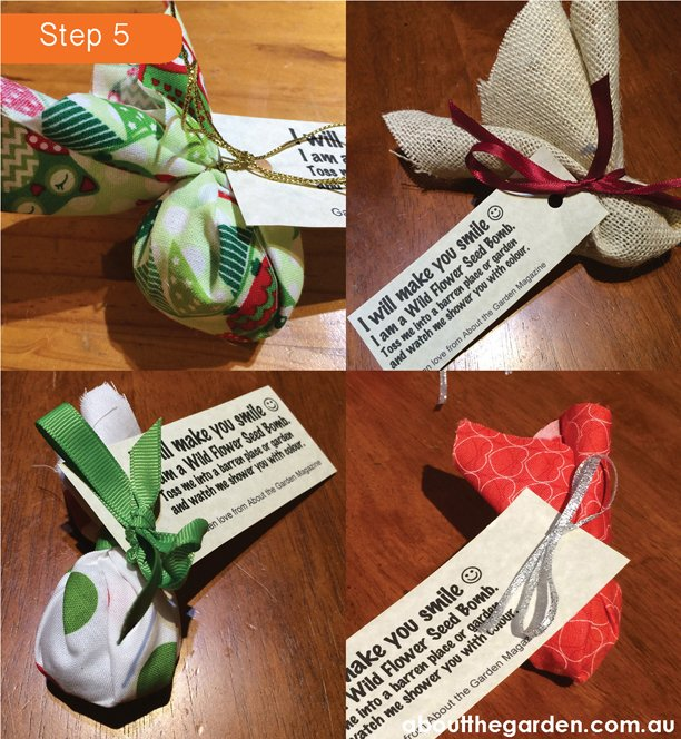 cottage garden seed bomb favours using airdry clay method searles potting mix Step 5 #craft #DIY #children #garden #aboutthegarden.com.au.com.au