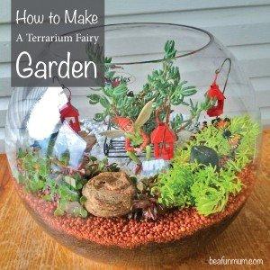 How to make a terrarium Fairy Garden Using Succulents