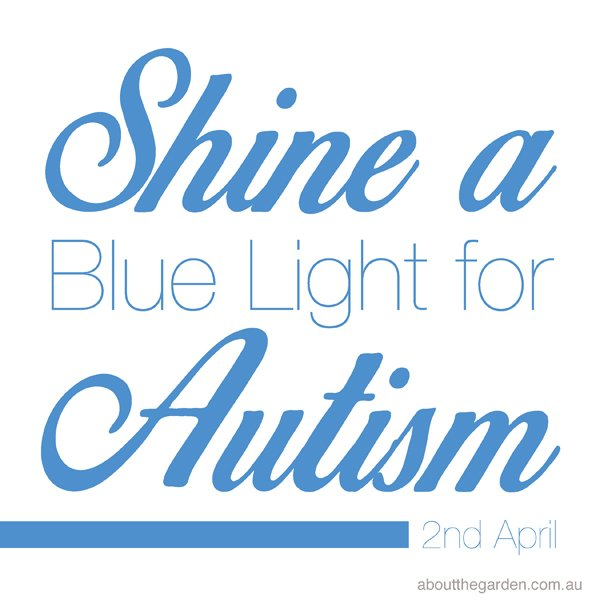 Light it up Blue shine a light on autism quote april