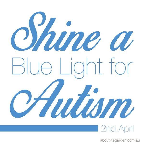 Light it up Blue shine a light on autism quote april