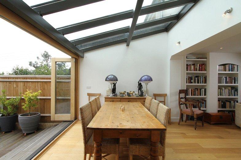 Kitchen extension into the garden
