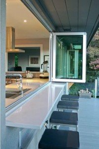 Kitchen extension ideas that spill into the outdoors window