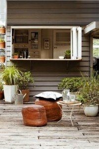 Kitchen extension ideas that spill into the outdoors shared bench space