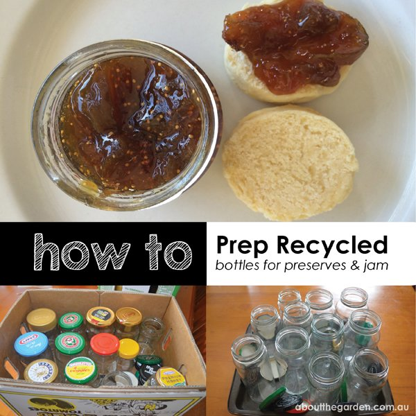 How to prep recycled bottles for preserves and jam aboutthegarden.com