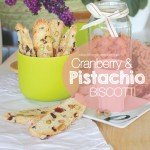 Cranberry and Pistachio biscotti recipe #garden aboutthegarden.c