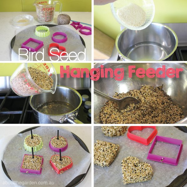 Bird Seed Hanging Feeder recipe steps #garden aboutthegarden.com