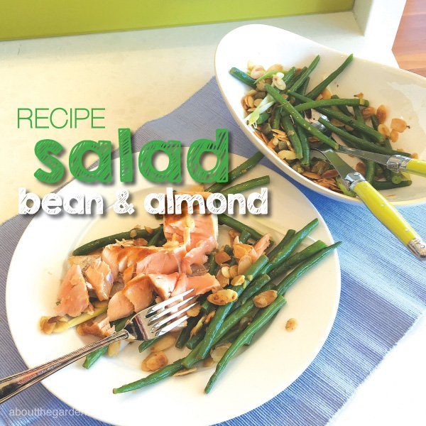 Green bean and almond salad #beans #recipe #garden #aboutthegard
