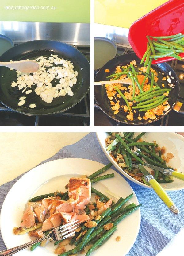 Green bean and almond salad cooking steps #beans #recipe #garden