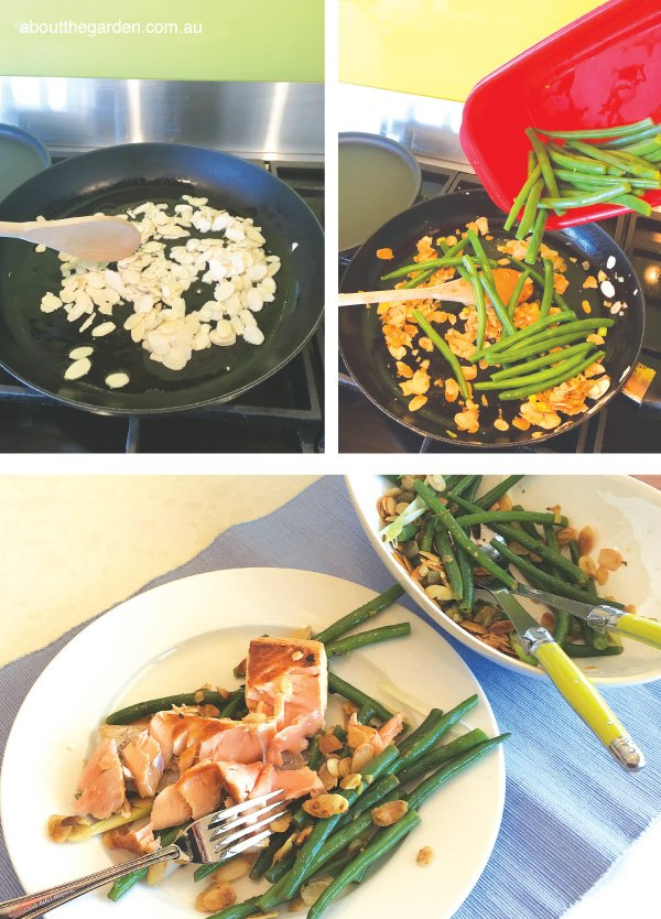 Green bean and almond salad cooking steps #beans #recipe #garden
