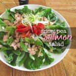 Snow pea and salmon salad recipe.indd