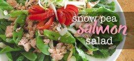 Snow pea & smoked salmon salad recipe