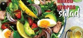 Tuna & mixed greens salad recipe