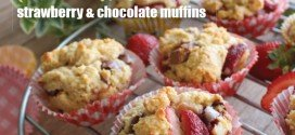 Low-carb strawberry and chocolate muffin recipe