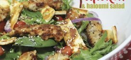 Crumbed Chicken & Haloumi Salad Recipe
