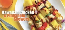 Hawaiian Chicken &  Pineapple Skewers recipe